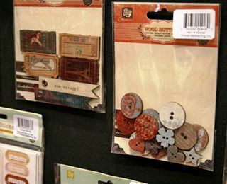 Prima wood buttons and flags