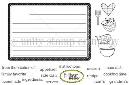 Jillibean receipe cards